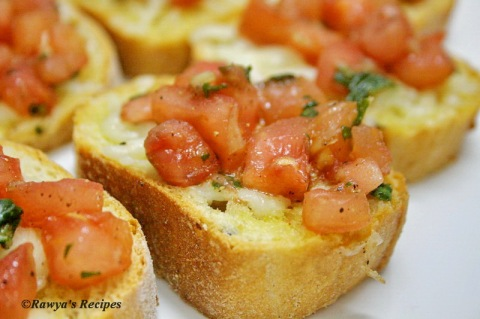 bruschetta with tomato and basil 2