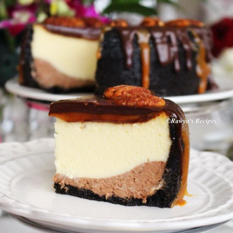 chocolate caramel cheesecake077